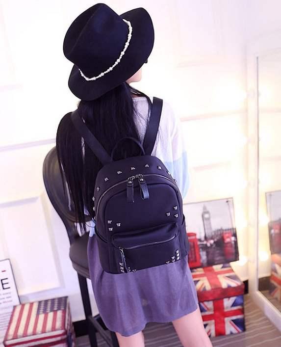 tas ransel korea wanita import hitam kuliah sekolah stylish kain 407e45e8af