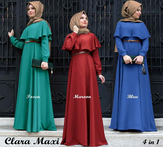 CGD-clara hijab  + belt - BAJU MUSLIM