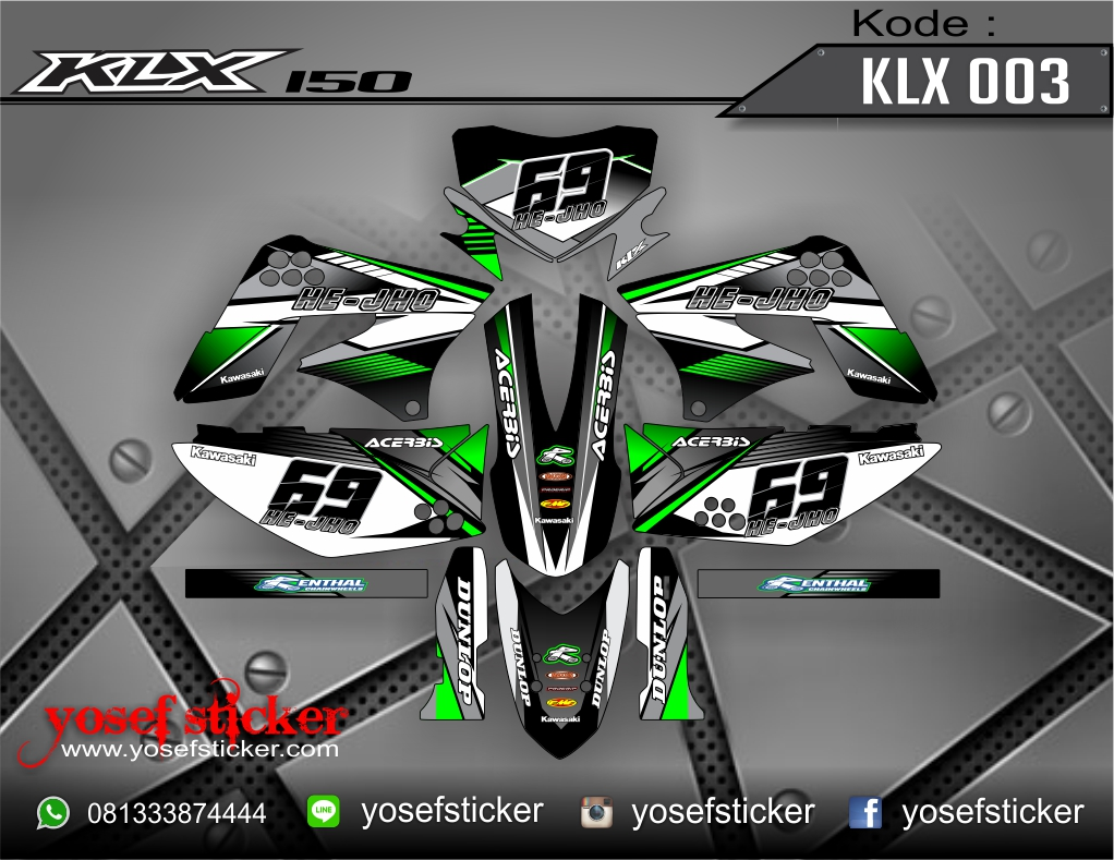 Jual decal sticker klx 150 003 yosef sticker decal tokopedia