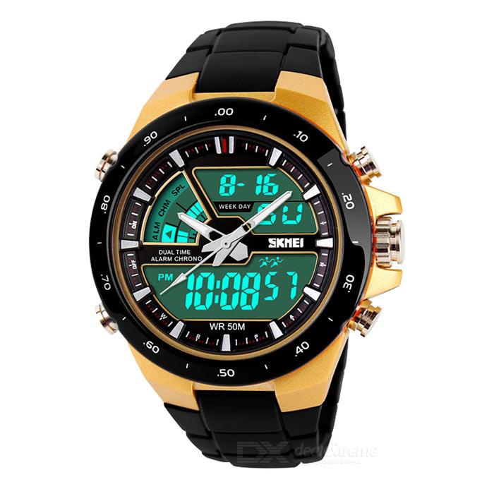 Jam Tangan Pria / SKMEI Casio Men / Digital LED + Analog / AD 1016