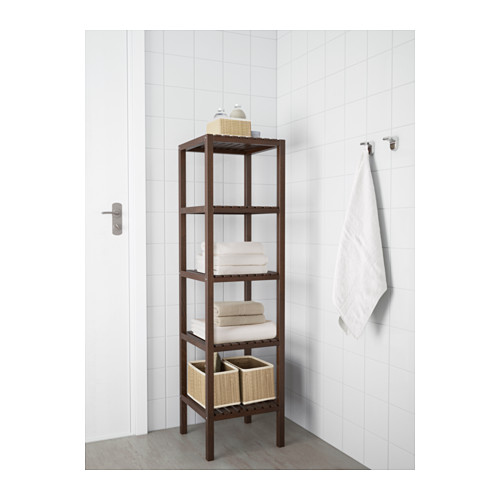 Bathroom shelving units