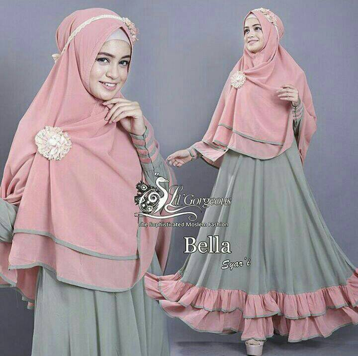 hijab bella syari baju muslim pakain gamis