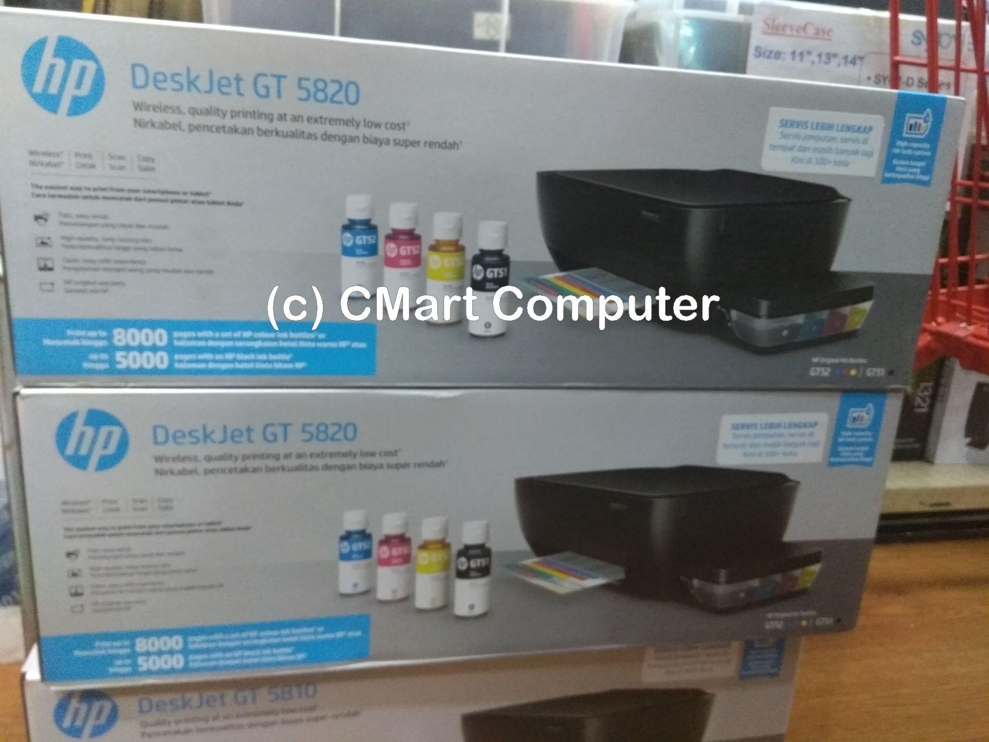 Hp Deskjet Gt 5810 All In One Printer Hitam Daftar Harga Terkini Tinta Original Gt51 Black M0h57a 90ml Refill Gt5810 5820 Jual Gt5820 Cmart Computer