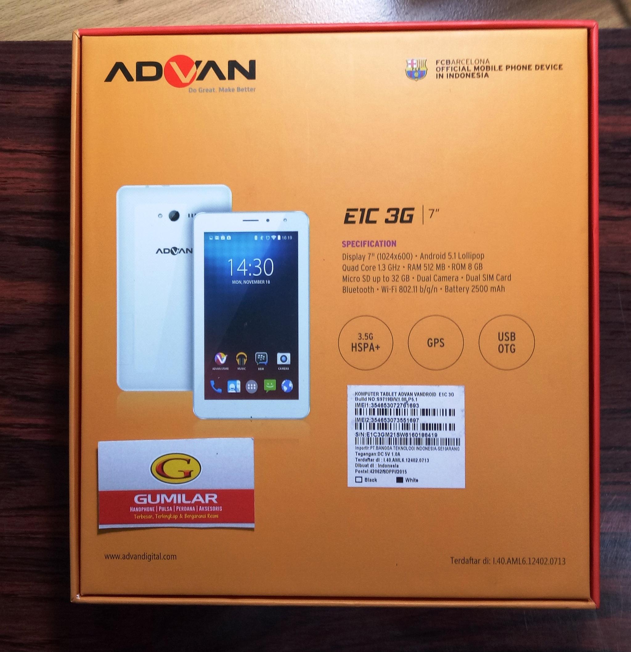 Jual Advan E1C 3G