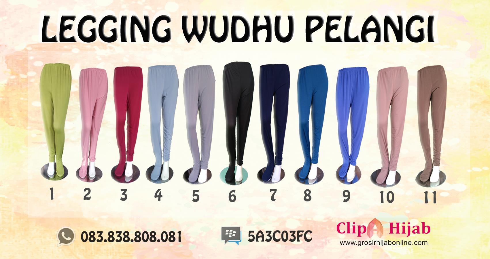 Celana Hijab Terbaru , Legging Wudhu Pelangi