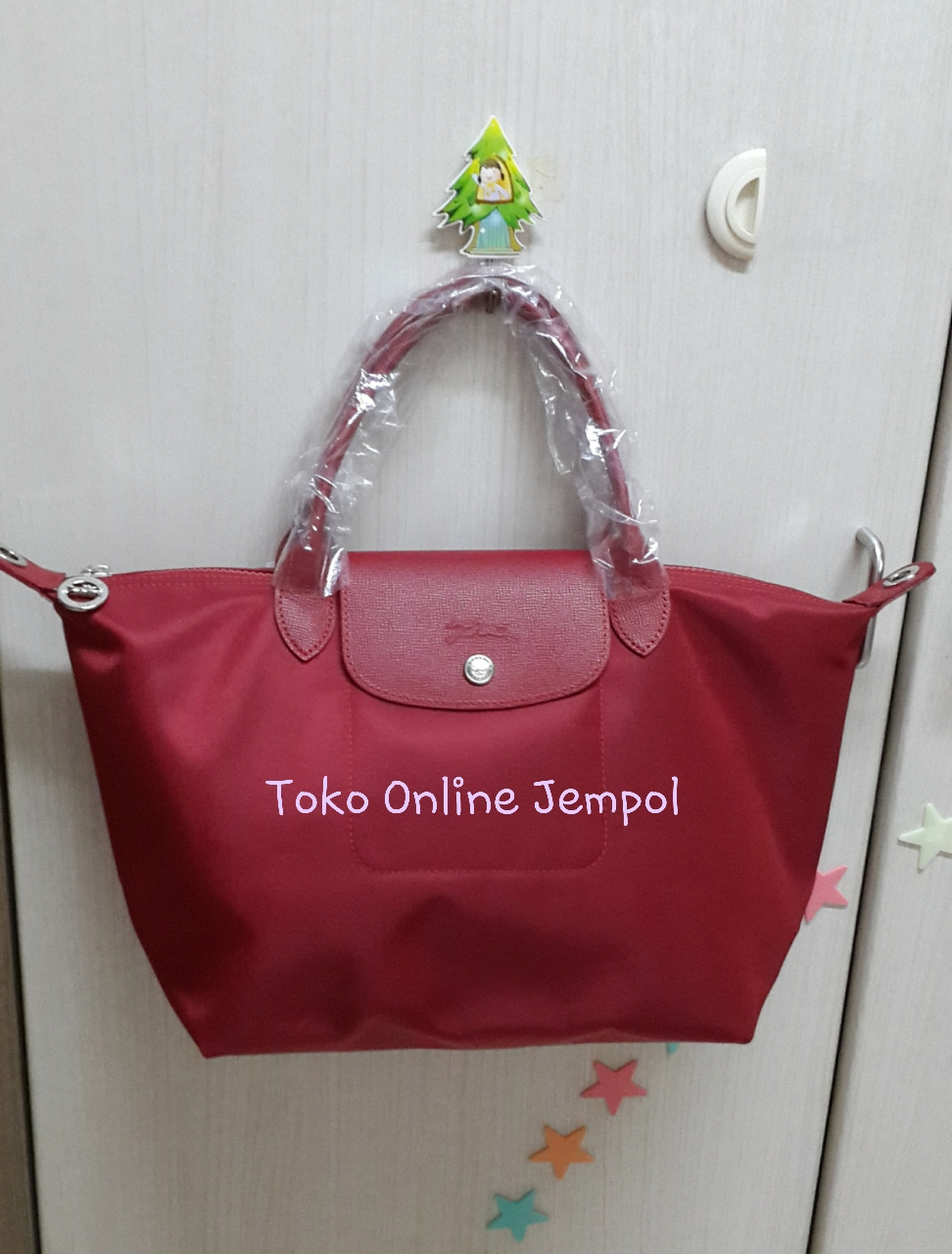 Jual 100 Authentic Medium Longchamp Le Pliage Neo Original Hitam Tote Khaki Green Ruby Pink Toko Online Jempol Tokopedia