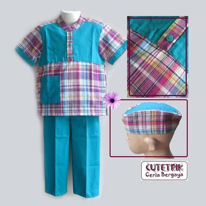 Setelan Baju Koko Lengan Pendek/Baju Koko Cutetrik/Baju Koko Murah