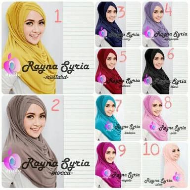 Syria Rayna Premium (New Variant)/kerudung/bergo/hijab simple