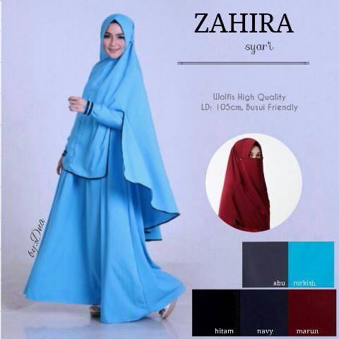 DNA ZAHIRA SYAR'I (Busana Muslim,Gamis Katun,Hijab,Dress,Syar'i)