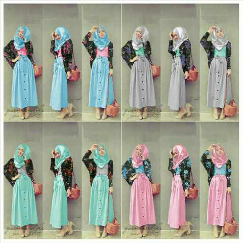 Hanna Flower 4 in 1set [Hijab 0113]