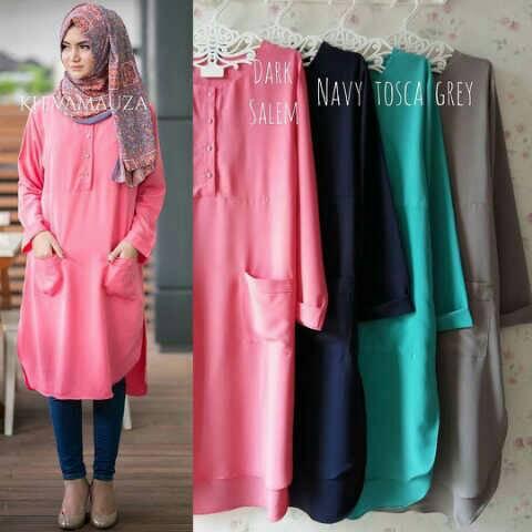 kheva tunikv / baju pink / baju muslim terbaru / hijab murah / blus