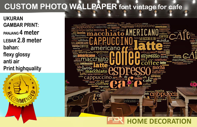Jual Wallpaper Untuk Dinding Cafe Restoran Fidrbrader Tokopedia