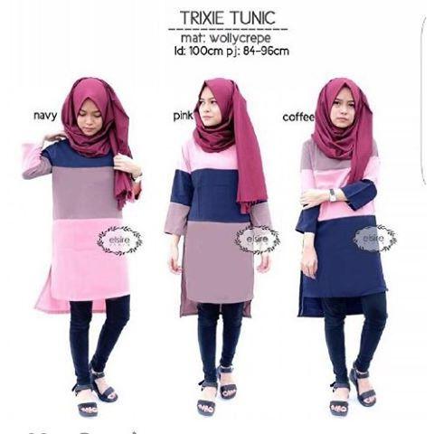 Baju Hijab Murah Trixie Tunik