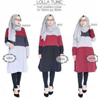 Baju Hijab Murah Lolla Tunik