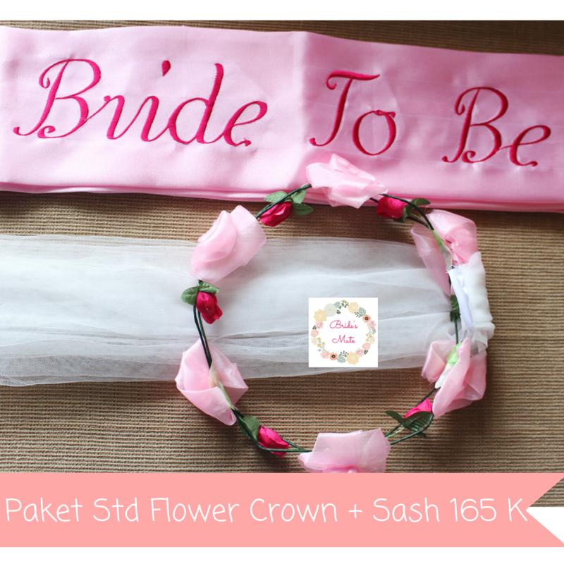 Jual Paket Bridal Shower Selempang Custom & Standard Flower Crown Bridesmate Tokopedia .