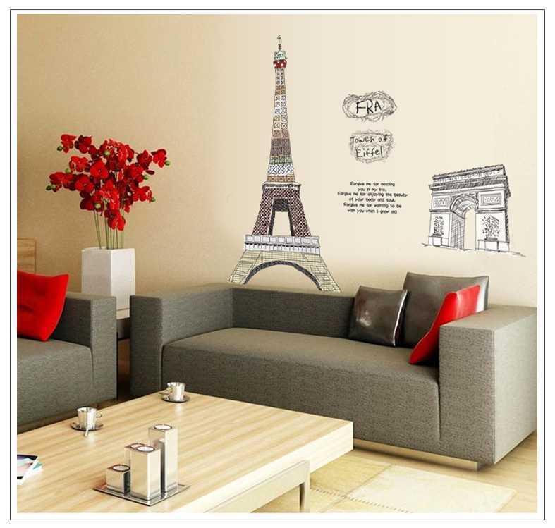 jual dekorasi rumah dinding kamar wall stiker 90x60 ay1930 paris