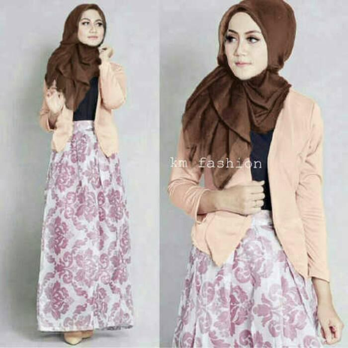 4in1 Sisca Hijab Set (rok pjg+inner+cardi+pashmina)