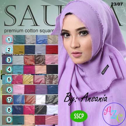 Jilbab Segi Empat Saudia | Hijab Cotton Premium SSCP