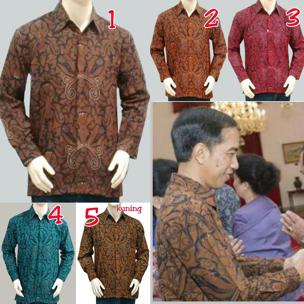 Jual Kemeja Batik panjang Jokowi 01 baju batik pestabatik pria