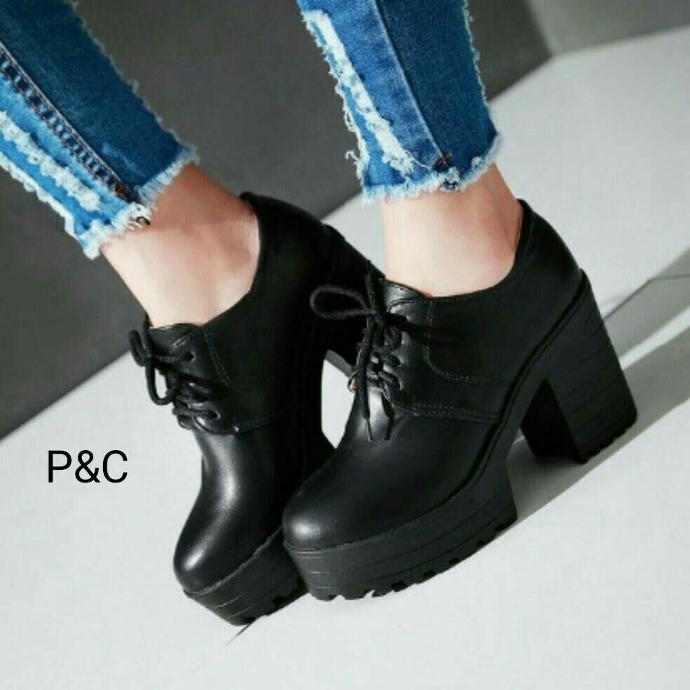 Jual Sepatu KEts Wanita Pantofel Tali Docmart Tinggi Grosir Sepatu ... cbaea799e2