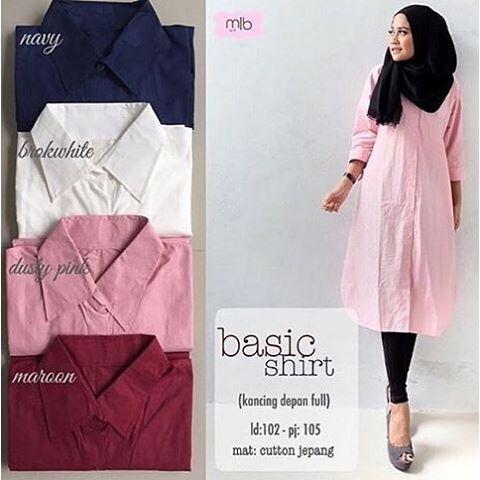 Baju Hijab Murah Basic Shirt