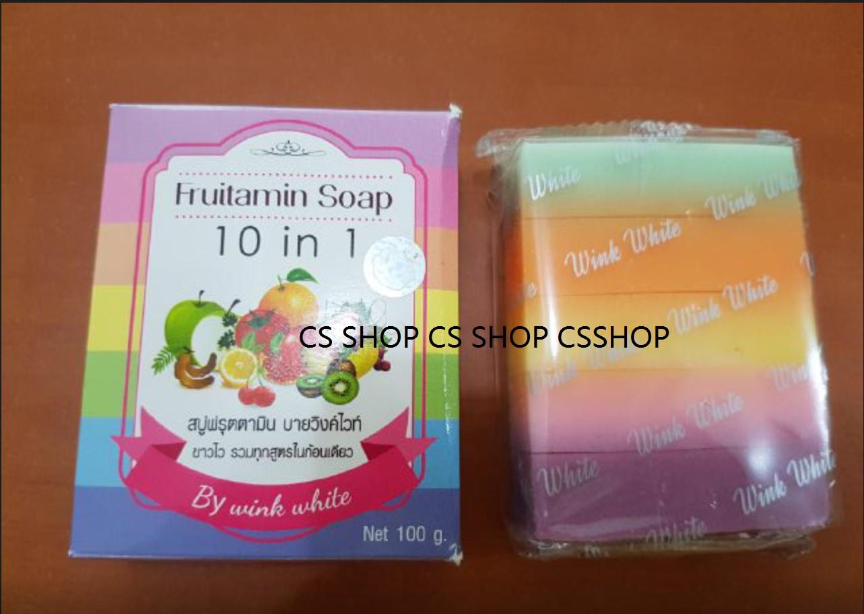 Jual Fruitamin Soap 10 In 1 By Wink White Ori 100 Sabun Pemutih Frutamin Badan Cs Shop Tokopedia