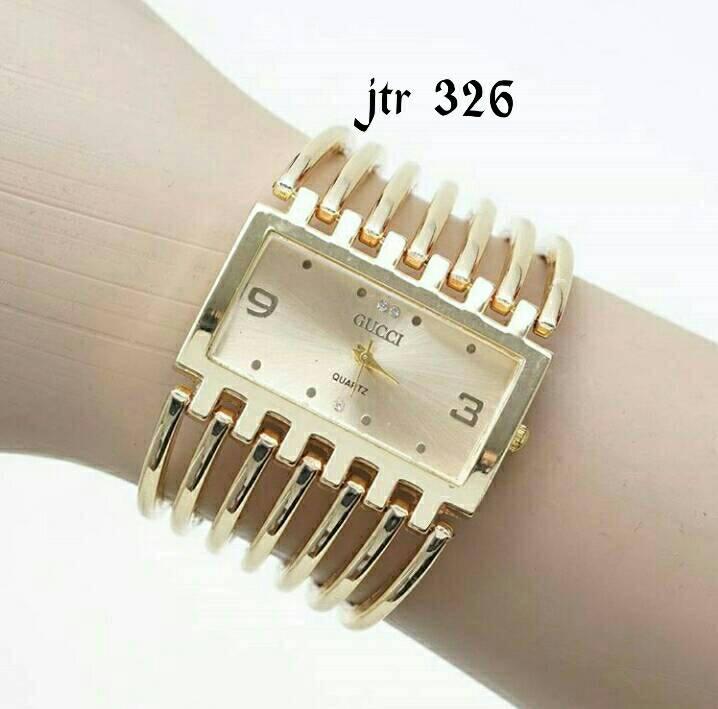 jam tangan gucci cewek / jtr 326 gold