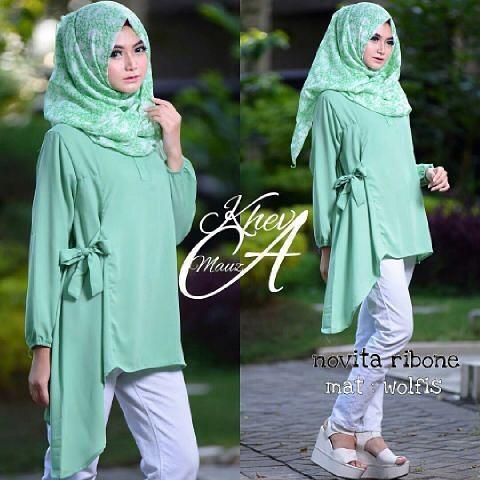 Baju Hijab Murah Novita Ribbon