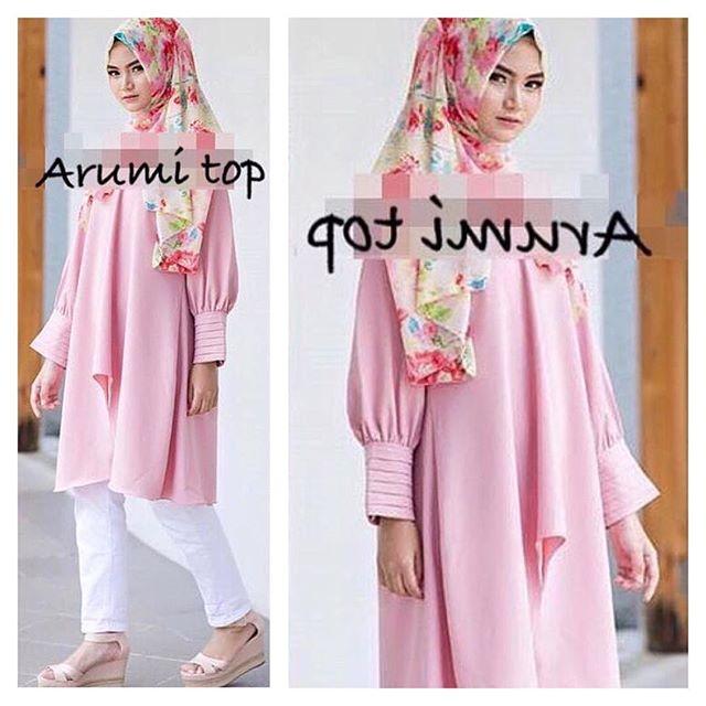 Baju Hijab Murah Arumi Pink