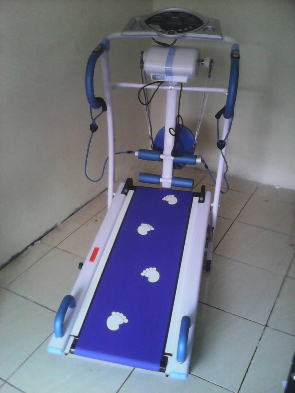 Jual Manual Treadmil 6 Fungsi Bfs 5008 Treadmill Putih Biru Tl Bisa Cod Tinsfitness Tokopedia