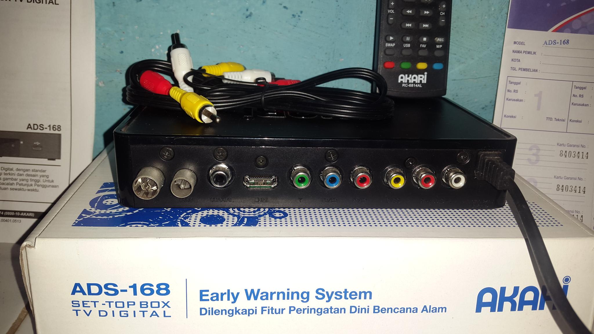 Jual Terlaris Akari Set Top Box DVB T2 dengan EWS ADS 168 Hitam Source · 6209904 f6a2ca4d e217 4626 a269 32f3cac5b00e jpg
