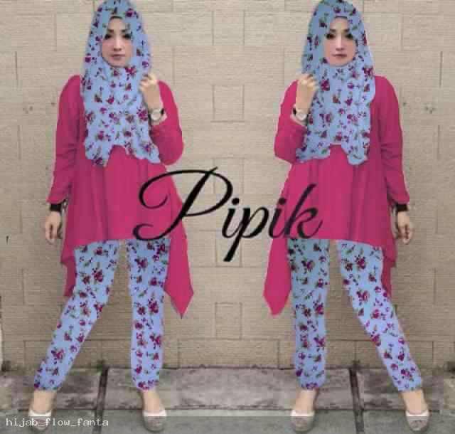 Hijab Pipik Flower Set 3in1