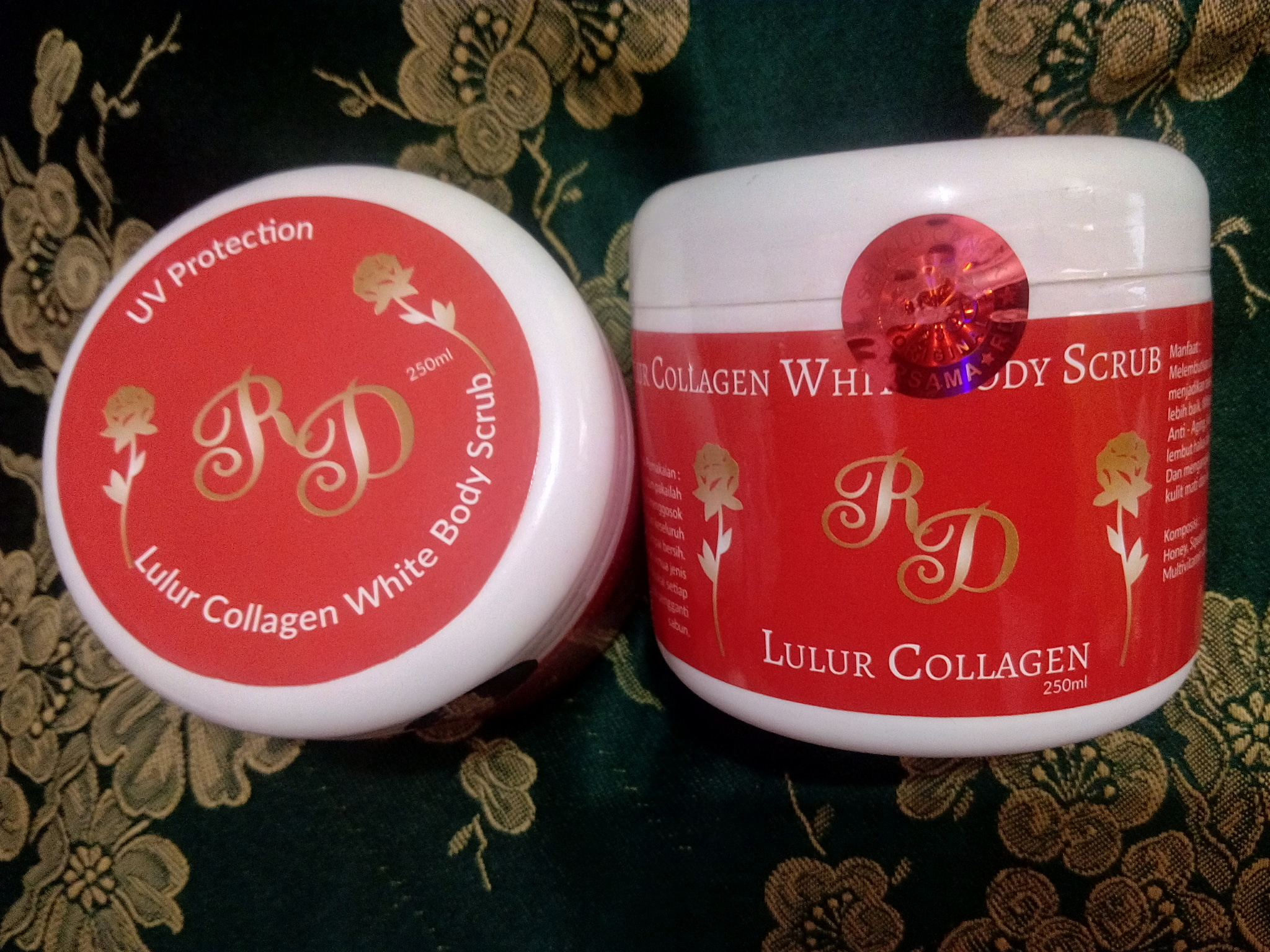 Jual Lulur RD Collagen Whitening Body Scrub Asli 100% Original Termurah