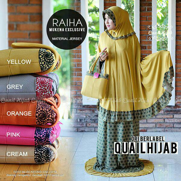 Mukena jersey Raiha ori Quail Hijab