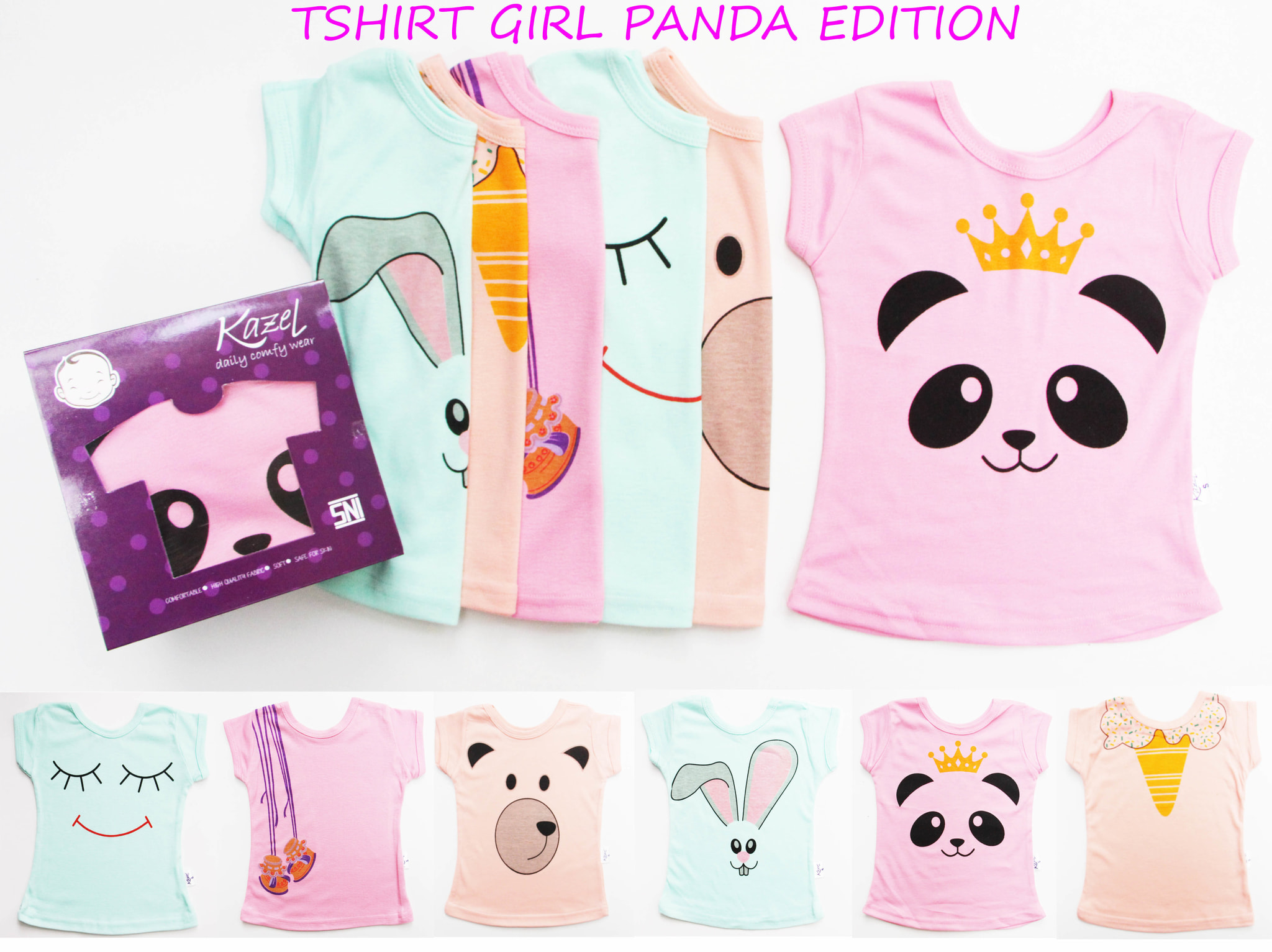 Jual Kazel Tshirt Panda Edition Kaos Bayi Anak Baju Tambahan Packing Bubble Lucu Starlight Shop Cs Tokopedia