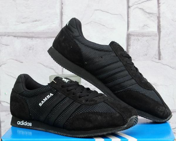 Jual Sepatu Casual Adidas Samba Full Black Murah Terbaru - Upin Ipin Store   3e6c2c31b6