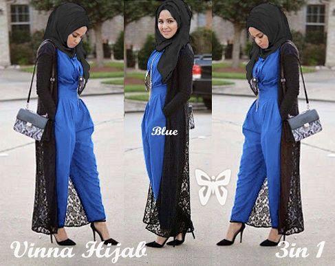 C Vinna hijab jumpsuit biru