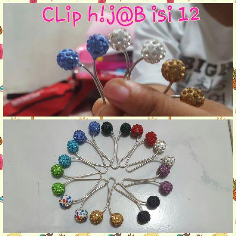 clip hijab turki-jepit jilbab turki motif crystal