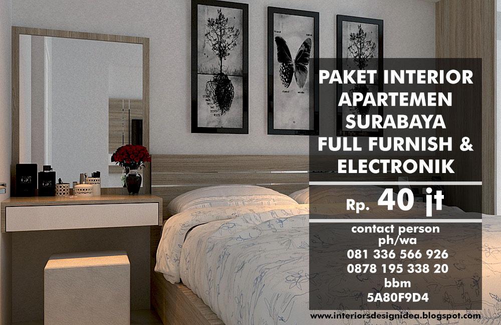 Jual Paket Interior Apartemen Surabaya FULL FURNISH ELEKTRONIK
