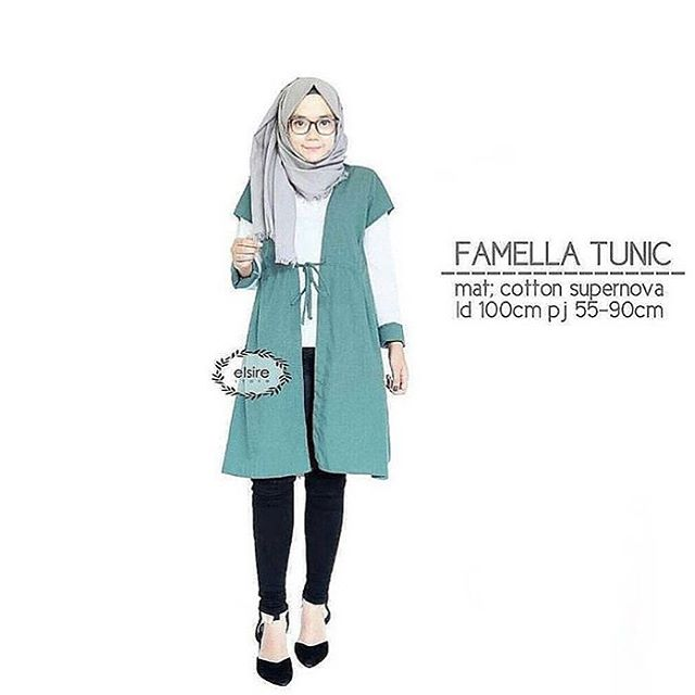 Baju Hijab Murah Famella Tunik