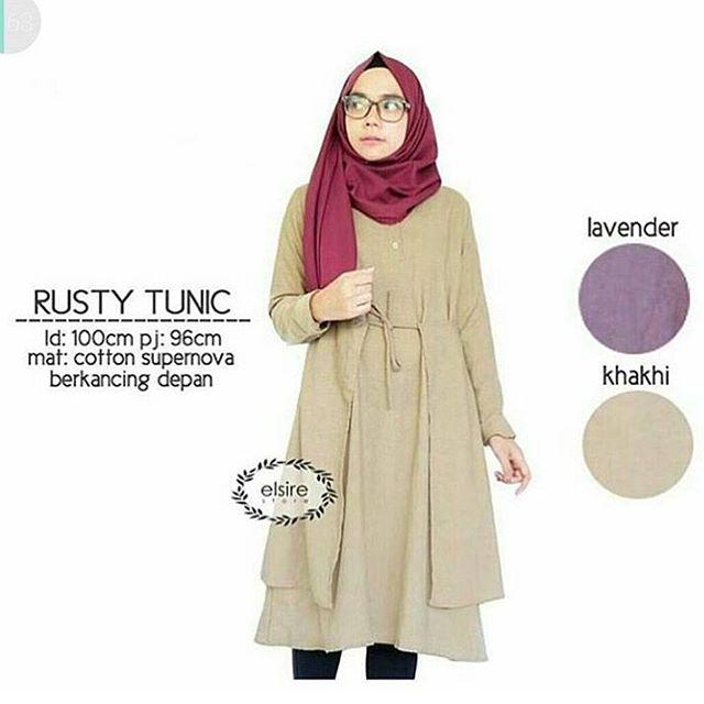 Baju Hijab Murah Rusty Tunik
