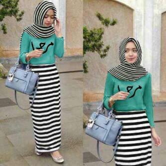Hijab Renata Arabian Stripe