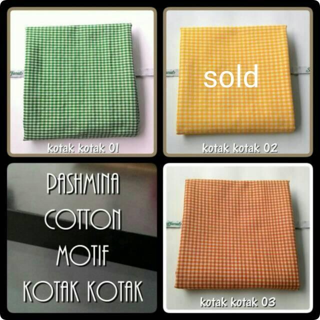 Pashmina / Hijab Monochrome kotak