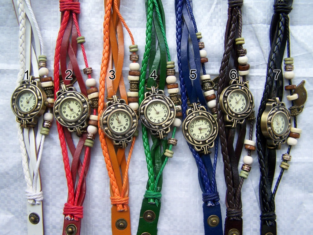 jam-tangan-gelang-kulit-kepang-lilit / braid leather watch