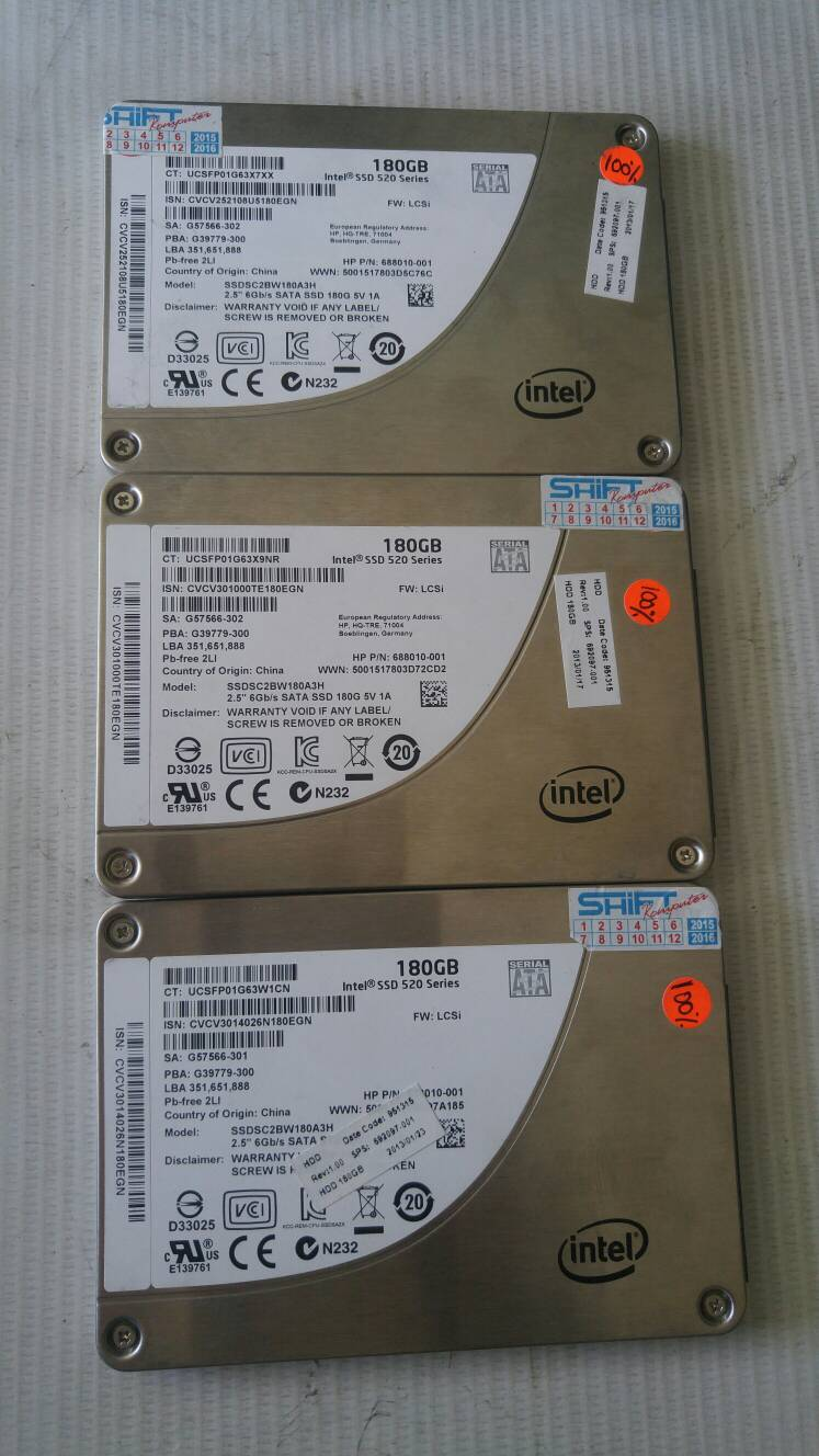 SSD INTEL 180GB 520SERIES