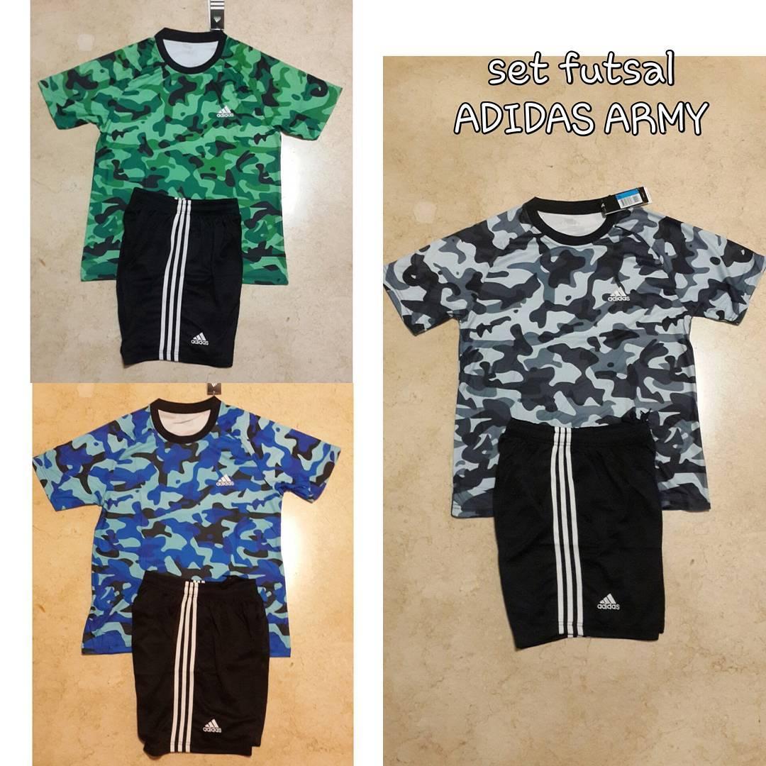 Jersey Setelan Futsal Sepakbola Adidas Ad17 Kaos Celana Beli Nike Nk27 Baju Bola Jual Army Go Import Oomph Store