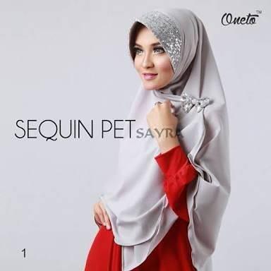khimar / bergo / hijab / jilbab syari sequin pet