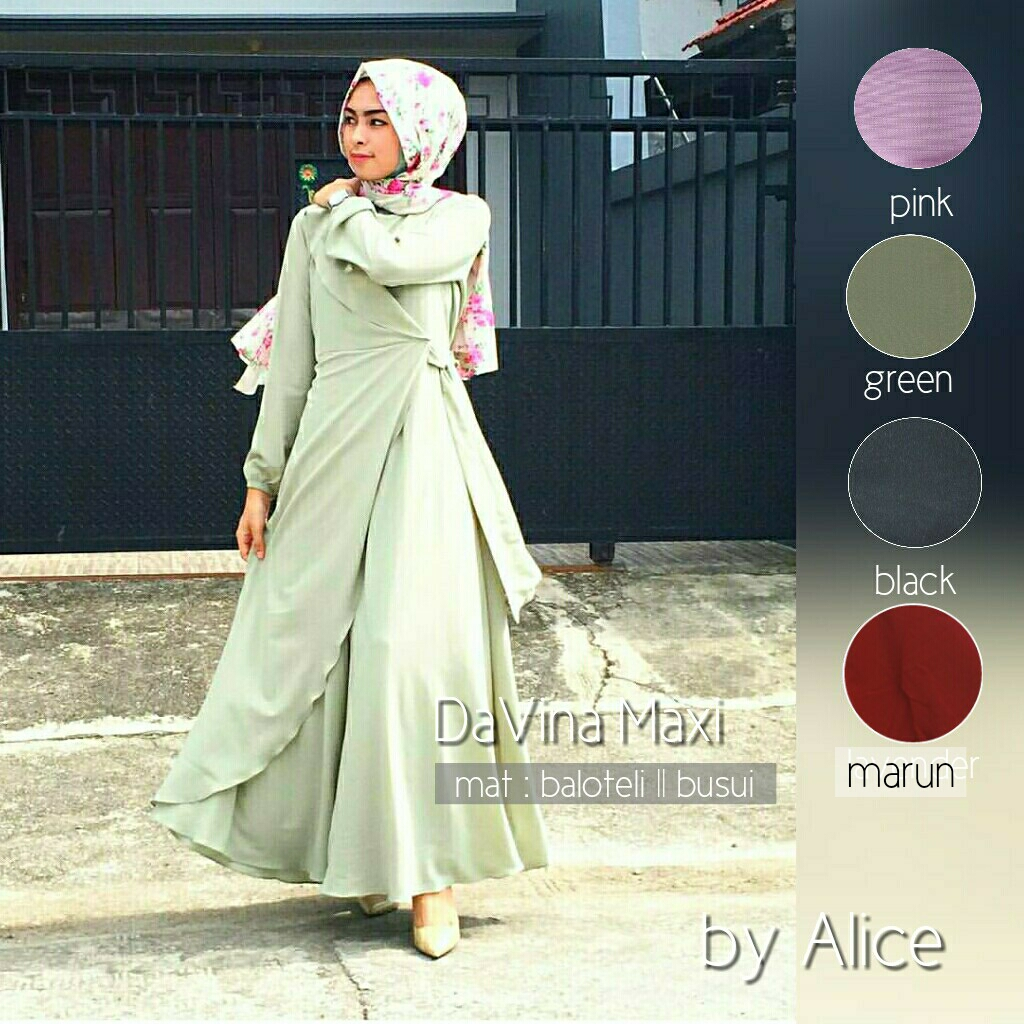 SUPPLIER HIJAB : DAVINA MAXI BY ALICE