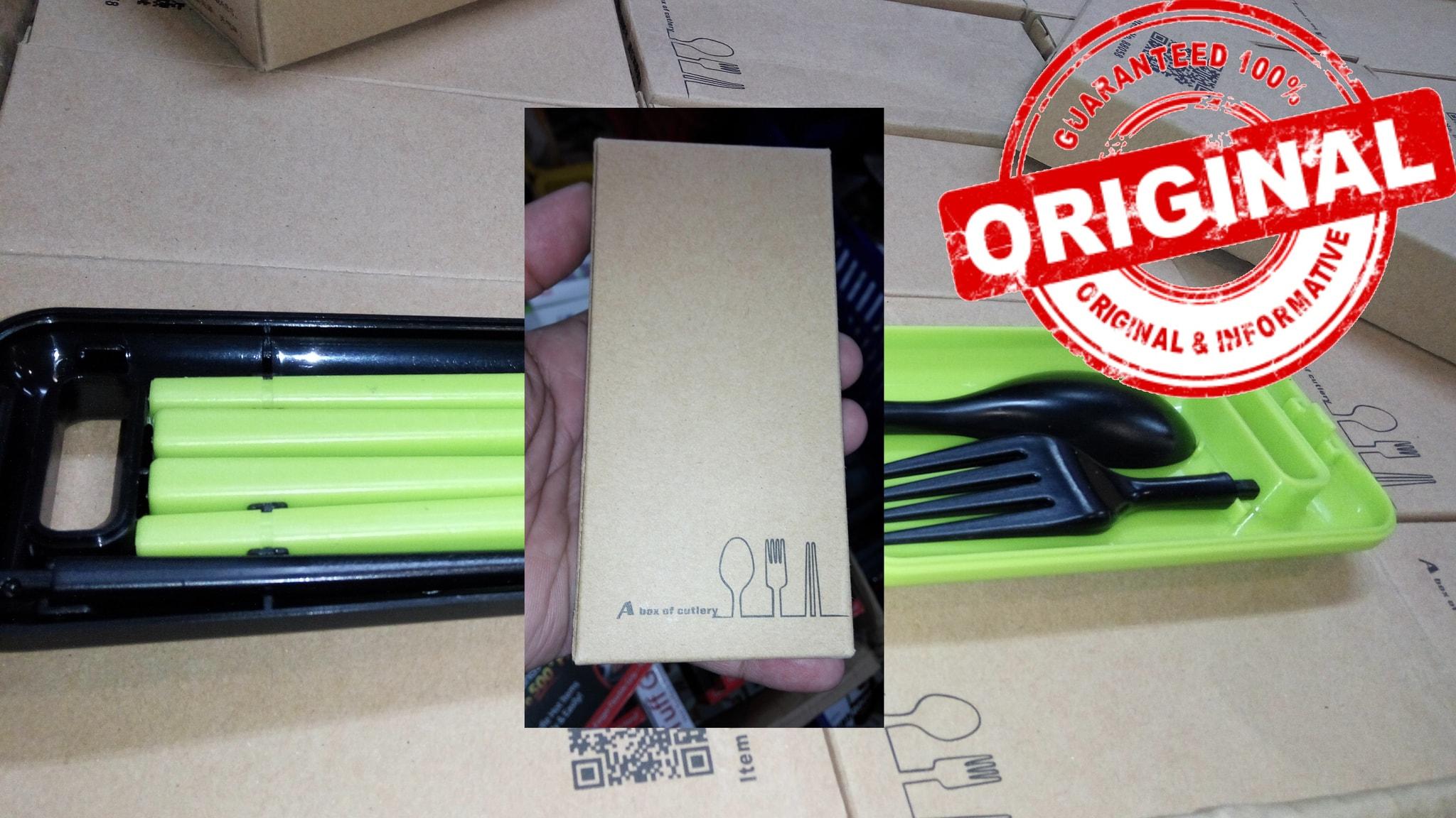 Jual Sendok Garpu Sumpit Buat Trevel Bekal Bekel Pelastik Plastik A Box Of Cutlery Dan Avi Online Shop Tokopedia