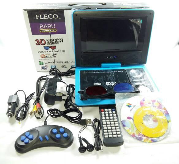 Portable TV / DVD Player Fleco 3D